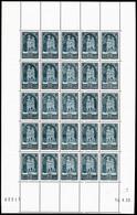 ** N°259, Cathédrale De Reims Type I En Feuille Complète De 25 Exemplaires Datée Du 14/4/1930, RARE Et SUPERBE (certific - Feuilles Complètes
