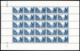 ** N°261, Port De La Rochelle Type III En Feuille Complête De 25 Exemplaires Daté Du 23/7/1931, RARE Et SUPERBE (certifi - Feuilles Complètes