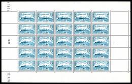 ** N°300, Normandie, 1F50 Bleu Clair En FEUILLE COMPLÊTE DE 25 EXEMPLAIRES Daté Du 22/5/1936, Très Jolie Pièce, RARE (ce - Feuilles Complètes