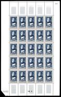 ** N°891/96, Série Célébrités Du XIXème Siècle En Feuilles Complêtes De 25 Exemplaires, TB (certificat)  Qualité: **  Co - Feuilles Complètes