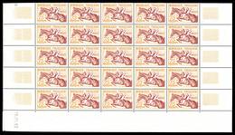 ** N°960/65, Série Jeux Olympiques D'Helsinki De 1953 En Feuille De 25 Exemplaires, SUP (certificat)  Qualité: **  Cote: - Feuilles Complètes