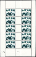 ** N°20, U.P.U, 500F Vert-foncé En Feuille Complète De 10 Exemplaires, TB (certificat)  Qualité: **  Cote: 650 Euros - Feuilles Complètes