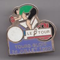 Pin's Cyclisme Vélo Le Tour Tours Blois 24 Juillet 1992 Réf 7175 - Cycling