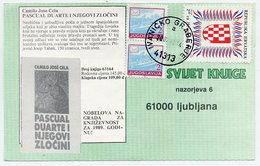 CROATIA 1991 Croatian Workers Organisation Postal Tax In Combination With Yugoslavia Definitives Used On Postcard. - Croazia