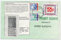 CROATIA 1991 Croatian Workers Organisation Postal Tax In Combination With Yugoslavia Definitives Used On Postcard. - Croatia