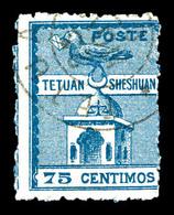 O MAROC POSTES LOCALES, N°151, 75c Bleu. TTB (certificat)  Qualité: O  Cote: 450 Euros - Morocco (1891-1956)