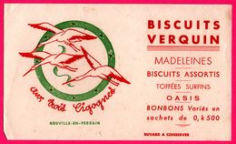 BUVARD - Biscuits VERQUIN - Aux Trois Cigognes - Madeleines - Neuville En Ferrain (59) - Alimentare