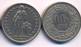 Switzerland Swiss 1 Franc 1983 VF - Suisse