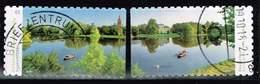 Bund 2018, Michel# 3405 - 3406 O Dessau-Wörlitz Garden, Selbstklebend - Gebraucht