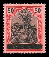 * SARRE, N°16, 80p Rouge Et Noir Sur Rose. TB (signé Brun)  Qualité: *  Cote: 300 Euros - Sarre