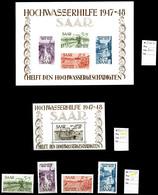 ** SARRE, Collections: Collection Complète De 1947 à 1959, Dont Bloc N°1 Et 2, PA 13. TB  Qualité: **  Cote: 3328 Euros - Sarre