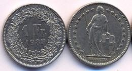 Switzerland Swiss 1 Franc 1988 VF - Suisse