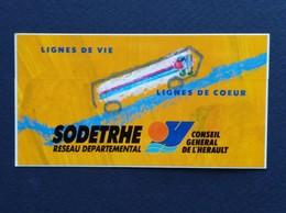 AUTOCOLLANT CONSEIL GENERAL HERAULT LIGNES DE VIE LIGNES DE COEUR - Autocollants