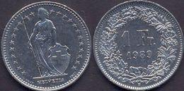 Switzerland Swiss 1 Franc 1989 VF - Suisse