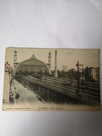 Anvers - Antwerpen // Gare Centrale - Centraal Station (mooie Kaart) 1908? Uitg. Hermans 42 - Antwerpen