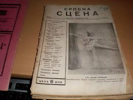 Srepska Scena Beograd 1942 Ww2 Okupation Theater - Livres, BD, Revues