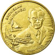 Monnaie, Pologne, Bronislaw Malinowski, 2 Zlote, 2002, Warsaw, SUP, Laiton - Pologne