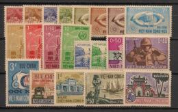 South Vietnam - Complete Year 1964 - N°Yv. 230 à 253 Sauf 242/244- 21v - Neuf Luxe ** / MNH / Postfrisch - Viêt-Nam