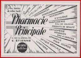 Pharmacie Principale, Saint Etienne, Loire (42), 1949. - Werbung