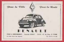 Renault 4 CV, Succursale Renault à Saint Etienne, Loire (42), 1949. - Publicités