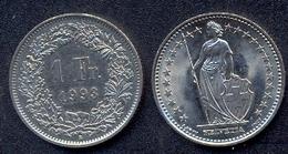 Switzerland Swiss 1 Franc 1993 VF - Suisse