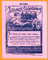 BUVARD Illustré - Cours Techniques AUTO - Mécanicien - Métier D'Avenir - St Quentin Aisne (02) - Illustration De BLANGY - Automotive
