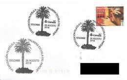 SPAIN. POSTMARK PALM TREE. SEGORBE 2018 - Marcofilia - EMA ( Maquina De Huellas A Franquear)