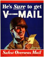 @@@ MAGNET - WAR PROPAGANDA - He's Sure To Get V···-mail - Publicitaires