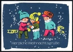A8770 - Glückwunschkarte - Weihnachten Kinder Schlitten - DDR 1968 - Reichenbach Nr. 6361 Wongel ?? - Unclassified