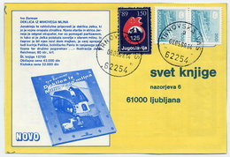 YUGOSLAVIA 1989 Commercial Postcard With Red Cross Week 150d Tax.  Michel ZZM 169 - Charity Issues