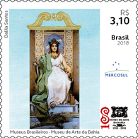 Brazil 2018 Stamps Museum Bahia Archicture Art Mercosul - Brazil