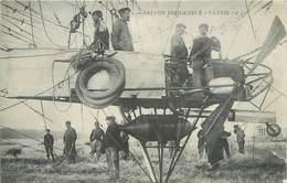 """CPA BALLON DIRIGEABLE """"PATRIE """" Nacelle équipage Mécaniciens 1907 Militaria Aviation Air G I - Dirigeables"""