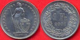 Switzerland Swiss 1 Franc 2001 VF - Suisse