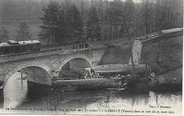 St Benoit ( Vienne ) Deraillement Du Bordeaux Paris Sur Le Pont De L'accident 25 Mars 1925 - Trains