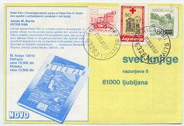YUGOSLAVIA 1988 Commercial Postcard With Solidarity Week 50d Tax.  Michel ZZM155 - Bienfaisance