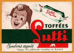 BUVARD Illustré - LUTTI - Toffées - Bonbons Exquis - Fillette - Sucreries & Gâteaux