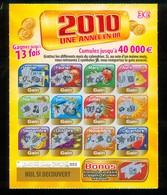 FDJ - FRANCAISE DES JEUX - 2010 UNE ANNEE EN OR 47801 - Billets De Loterie