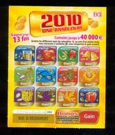 FDJ - FRANCAISE DES JEUX - 2010 UNE ANNEE EN OR 47801 SPECIMEN - Billets De Loterie