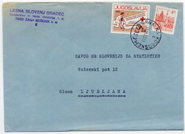 YUGOSLAVIA 1983 Commercial Cover With Red Cross Week 2d Tax.  Michel ZZM80 - Charity Issues