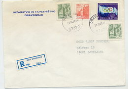 YUGOSLAVIA 1980 Commercial Cover With Olympic  Tax.  Michel ZZM72 - Charity Issues