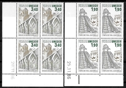 France Coins Datés 1986 UNESCO  Yv.Nr. Service 91 à 92 Neuf Sans Charnière  ** - Servicio