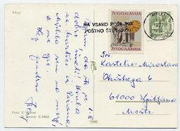 YUGOSLAVIA 1977 Postcard With Solidarity Week  Tax. - Charity Issues