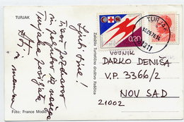 YUGOSLAVIA 1976 Postcard With Red Cross Week  Tax. Michel 51 - Charity Issues