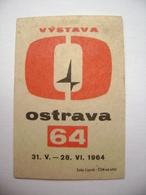 Czechoslovakia  Matchbox Label 1964 - Exhibition Ostrava - Boites D'allumettes - Etiquettes