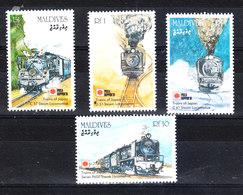 Maldive - 1991. Philatokyo. Treni Trains, Complete MNH Fresh Serie - Treni