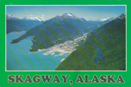 Alaska Skagway Aerial View From The North 1988 - United States