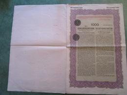 Obligation Au Porteur De La République D'Autriche De 1000 Francs N°2,274 - Actions & Titres