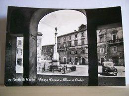 1963 - Viterbo - Grotte Di Castro - Piazza Cavour - Monumento Ai Caduti - Macelleria - Sali E Tabacchi - Vera Fotografia - Viterbo