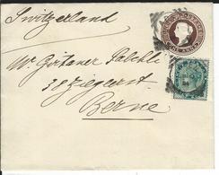 Aden Indian Envelope Of 1886 + SG Z47, Aden 11.9.94 To Bern CH - Aden (1854-1963)