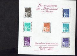 FRANCE - Les Valeurs De La Monnaie Et De La Lettre En FRANCS Et En EUROS - Blocs N° 41 / 42 / 44 / 45 - - Blocs & Feuillets